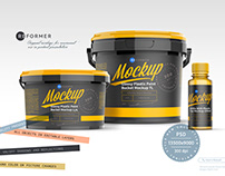 Paint and Varnish Products Packaging Mockup