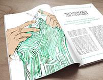 Technology for the elderly (layout & Illustration)
