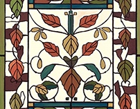Craftsman-Birch Stained Glass