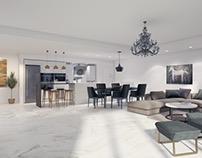 Apartment in LA. My design and vizualisation
