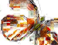 Digital Watercolored Mosaics