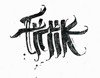 Free calligraphy. Part 1