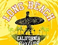 California graphic design vector art (stock vector)