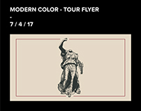 Modern Color - Tour Flyer