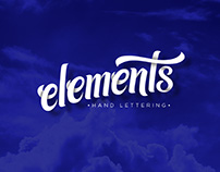 Elements // Hand Lettering
