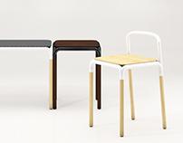 pipe wood stool
