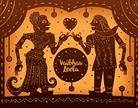 Indian Invite in Shadow Puppet