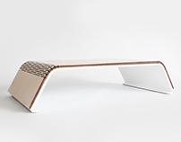 Baneret Computer Stand - Light Wood