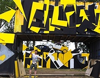 Dance stage Yellow Black for DEF CON 1