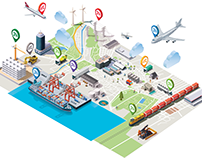 Internet of Things isometric animation