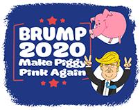 Brump 2020 / Funny Illustrations / Piggy Pink