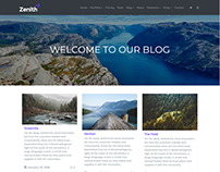 Blog Posts Grid Page - Zenith WordPress Theme