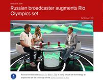 Russian TV set design in RIO 2016. Матч ТВ