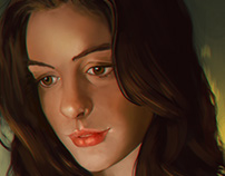 Anne Hathaway Speed Painting Study