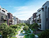 Diseño y render viviendas en El Cairo, Egipto