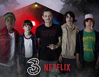 Spot Netflix e Casa Tre: Il Sottosopra