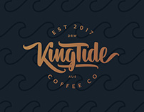 Hand Lettering: King Tide Coffee Co.
