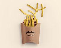 Fries Box Mockup - Photoshop .PSD