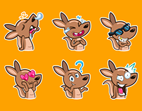 kangaroo stickers