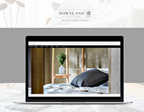 Downland bedding web design