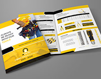 Hand Tools Products Catalog Bi- Fold Brochure Template