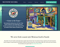 Blue Water Taco Grill - Website redesign