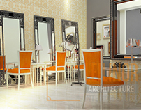 Salon interior design by Leilinor Architect