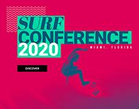 Landing Page Design Surf Conference 2020