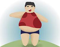 Ilustración metabolismo lento