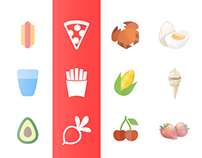 1000+ Material, flat, iOS & Realistic food icons