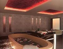 3D Luxurious Spa Massage Design View