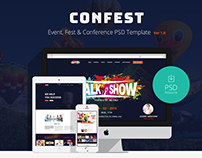 ConFest - Multi-Purposes Event and Conference PSD Templ