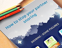 Infographics. How to stop your partner snoring.