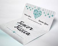 [IMPRESSO] Convite de Casamento - Júnior & Jéssica