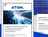 Atom. Landing page