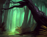 the greeny forest sketch