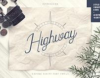 Highway - Vintage script font family + Extras