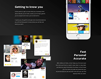Flat Parallax Responsive Landing Page