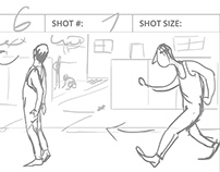 "Storyboard for short film ""One more day"""