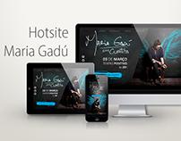 Hotsite Fictício Maria Gadú
