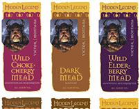 Hidden Legend Winery mead labels
