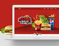 Attitude Burger Website Concept Design