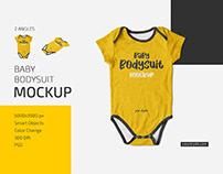 Baby Bodysuit Mockup Set