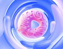 Donuts graphics Design | 3D motion