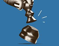 Broken chess piece poster