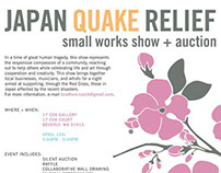 Small Works and Auction || Japan Quake Relief