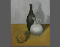still life oil painting with three colors 297-420mm