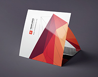 Square Abstract Pattern Trifold