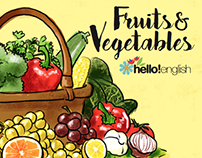 "Book illustrations ""Fruits&Vegetables"""