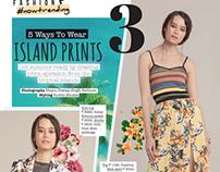 Island Prints-Juice Magazine,Mar 2016.